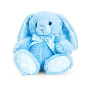 Keel Toys 15cm Baby Blue Spotty Rabbit Plush Toy (15cm)