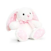 Keel Toys 15cm Baby White/Pink Spotty Rabbit Plush Toy (15cm)