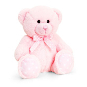 Keel Toys 35cm Baby Pink Spotty Bear Plush Toy (35cm)