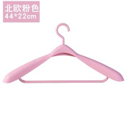 XXAICW Bold plastic racks free wide shoulder suit hangers anti-slip coat suit hanging clothes for adults ,1 , Pink