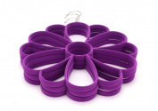 EXOH Multifunction Soft Scarf Tie Rack Hanger Closet Protect Rack Delicate Scarves Rack 25cm