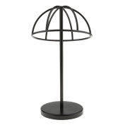 MagiDeal Utility Dome Shape Black Metal Wire Hat Rack Cap / Wig Holder Display Stand for Home Salon Shop