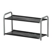 LUSTIFIK - Hat/shoe rack, silver-colour/black