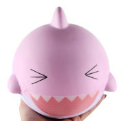 15cm Pink Lovely Happy Shark Santa Gift Present Elastic Environmentally PU Claus Stress Relief Toy ,Yannerr Fun Ghost Skull Scented Squishy Charm Slow Rising 10cm