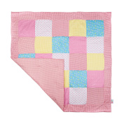 Crawling Blanket Large Padded Patchwork Baby Blanket for Boys and Girls Playpen Mat & Playpen Cushioned Mat Insert 120 x 120