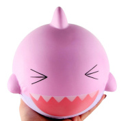 Lovely Pink Shark Squishy Squeeze Toys Jaminy Colourful Shark Slow Rising Phone Straps Decompression Toy Christmas Gift