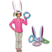 Pawaca Inflatable Bunny Rabbit Ears Ring Toss Game for Christmas Holiday Party Xmas Kids Gift One Size Fit All