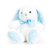 Keel Toys 15cm Baby White/Blue Spotty Rabbit Plush Toy (15cm)