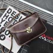 Retro Small Square Bag Multi-Function Mobile Phone Bag Fashion Messenger Bag Handbags , black