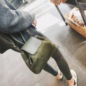 Female All Match Plush Bucket Bag Ulzzang Messenger Bag Handbag Shoulder Bag , green