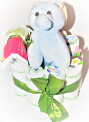Elephant Nappy Cake Baby Gift Birth Christening