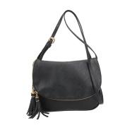 Domybest PU Leather Women Tassel Messenger Bag Handbag Shoulder Crossbody Bag