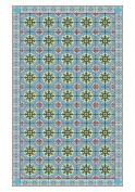Huella Deco h1005-ca-xs Maiolica Rug Carpet Mat Floor, Vinyl, 57 x 96 cm
