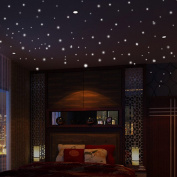 FIDGET DICE 104 PCS Home Wall Glow In The Dark Stars Stickers Decal Baby Kid's Nursery Room - DIY Wall Decal - Dots and Moon for Starry Sky, Perfect For Kids Bedding Room Gift ,Beautiful Wall Decals