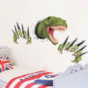 Zooarts Wall Sticker 3D Dinosaur Removable Scary Claws Home Children Room Wall Decals