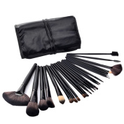 FINEJO 24 PCS Professional Natural Goat Hair Makeup Brush Set With Free Pouch