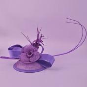 zhENfu The Retro Flower Grenadine Top Hat,Purple Headdress