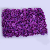 Homyl Upscale Artificial Flowers Wall Panels Home Shop Wedding Stage Floral Decor - Dark Purple