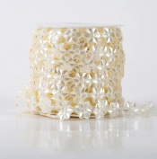 Bride headdress decoration 15 m pearl colour peach cotton line beads chain headdress DIY jewellery accessories