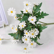 Aulley Artificial Silk Daisy Flowers Bouquet for DIY Wedding Party Home Decor