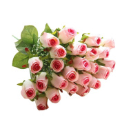 Artificial Rose Bouquet,TianranRT 24 Head Flannel Touch Rose Flowers For wedding Party Home Design Bouquet Decor