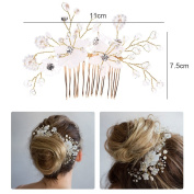 Greencolourful Wedding Flower Hair Accessories Wedding Comb Handmade Flower Comb White Headdress Wedding Dress Decor Bride Accessories