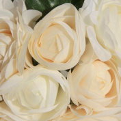 Artificial Rose Floral Bouquet,TianranRT 1 Bouquet 8 Head Rose Fake Silk Flower Leaf Artificial Home Wedding Decor Bridal Bouquet