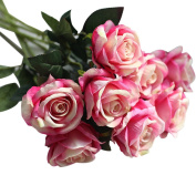 Artificial Rose Floral Bouquet,TianranRT 10 Head Latex Touch Rose Flowers For wedding Party Home Design Bouquet Decor
