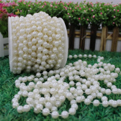 10m/Roll 8mm Artificial Pearl Beads String Curtain Hanging Bead Curtain Wedding Club Party Decoration