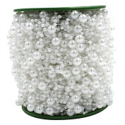 60M/ Roll White Pearl String Party Garland Wedding Centrepieces Bridal Bouquet Crafts Decoration