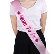 "LAAT 1PC New Ladies Etiquette Belt Hen Party Sashes Hen Party Sash ""Mom to be"" Printed for Wedding Party Decoration 78*9.5cm"
