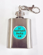 Get Riggity Riggity Wrecked Son Rick and Morty Inspired 30ml Hip Flask Key Ring