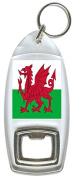 Flag of Wales UK - Bottle Opener Keyring