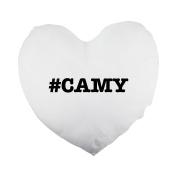 nicknames CAMY nickname Hashtag Heart Shaped Pillow Cover