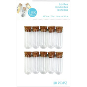 Momenta with Love by Mini Glass Bottles, Multi-Colour, 16.25 x 10.16 x 1.67 cm