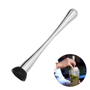 OUMOSI Stainless Steel Ice Breaker Stick Mixing Cocktail Muddler Swizzle Stick Ice Hammer
