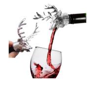 Aluminium Stag Head Wine Bottle Cork pourer stopper