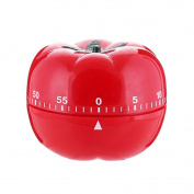 Timer Alarm,New Tomato Home Kitchen Wind-Up Mechanical Timer Alarm 60 Minute Cooking Tool