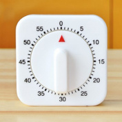 Timer Alarm,New Square Home Kitchen Wind-Up Mechanical Timer Alarm 60 Minute Cooking Tool