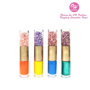 OH Fashion Nail Polish Set, Art & decoration, 2 Colours in One double Glass bottle 45ml, 3 count, manicure