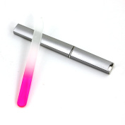 NEW- Crystal Glass Finger Nail File with Case Pedicure Fingernail File
