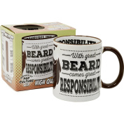 With Great Beard Tea Cup Funny Joke Gift Present Idea HOME KITCHEN OFFICE