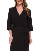 PJ Salvage Rayon Basics Dressing Gown Black Black X-Large