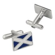 The Scottish National Flag of Scotland Pewter Cufflinks