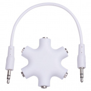 Yescom 6-Way 3.5mm Headphone Audio Splitter with Connect Cable For iPod/iPhone/MP3
