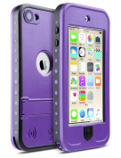 iPod Touch 6th Generation Case, iPod Touch 5th Generation Case,ULAK Waterproof Dustproof Sweatproof Cover Built-in Touch Screen with Kickstand for Apple iPod Touch 5th Gen/6th Gen