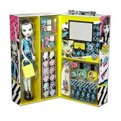 Fashion Doll Case with Frankie Stein, Eye shadow, shimmer cream, lip gloss, and more By Monster High Ship from US