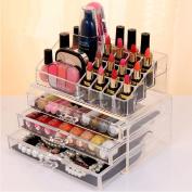 Ktaxon Makeup Cosmetic Organiser Case Drawers Holder Storage Box Jewellery w/ 3 Drawer