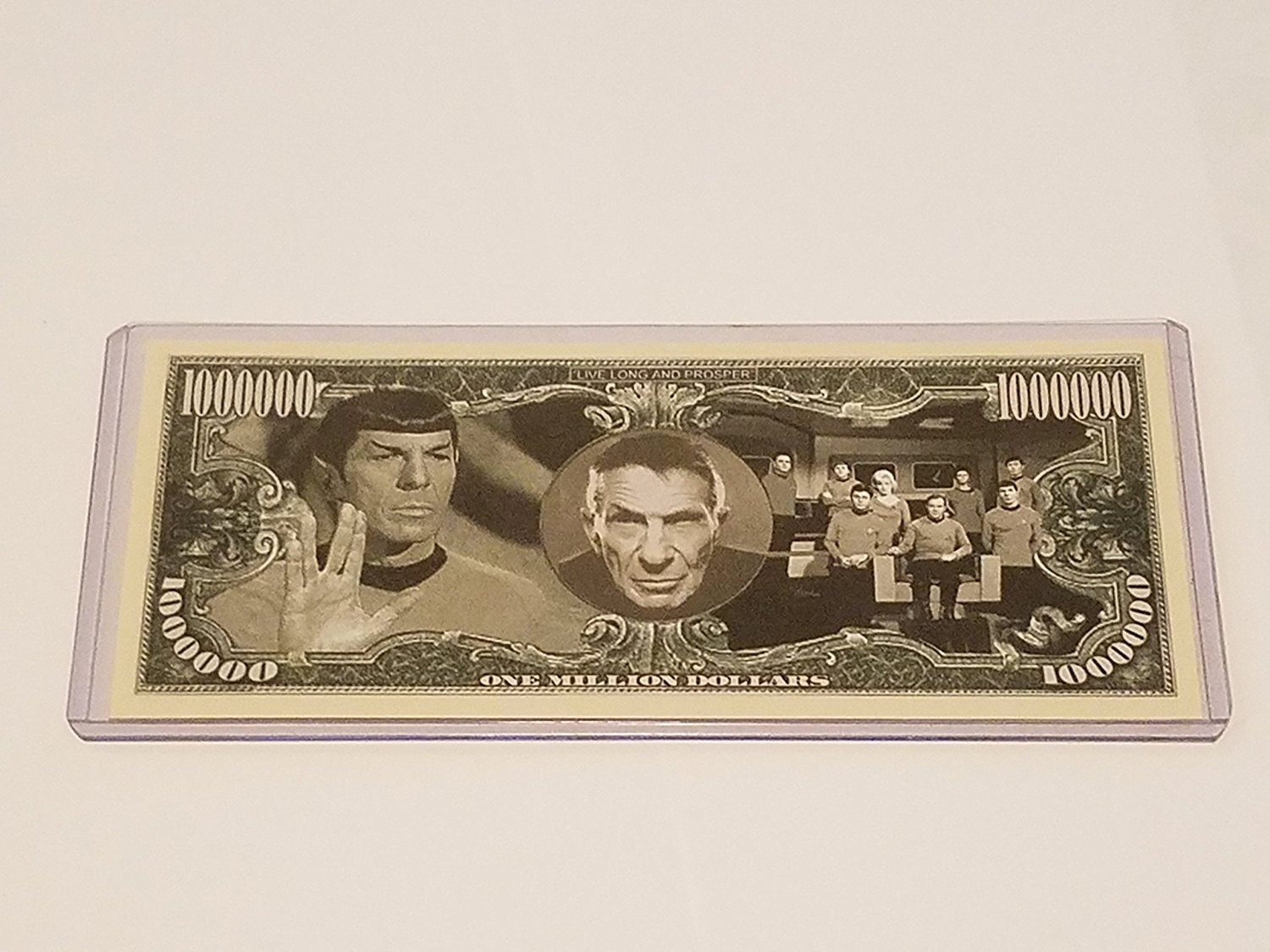 Star Trek Real Dollar Spock Live Long and Prosper {Color} Leonard Nimoy