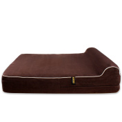 Dog Bed Replacement Cover for KOPEKS Memory Foam Beds - Brown - Extra Large